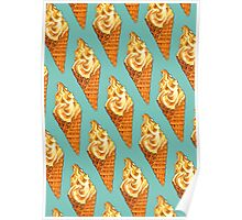 Vanilla Soft Serve Pattern Poster