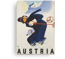 Ski Austria Travel Poster Canvas Print