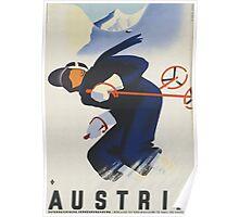 Ski Austria Travel Poster Poster