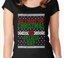 All I Want For Christmas (Felicia Day) Women's Fitted Scoop T-Shirt