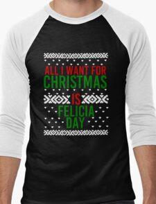 All I Want For Christmas (Felicia Day) Men's Baseball ¾ T-Shirt