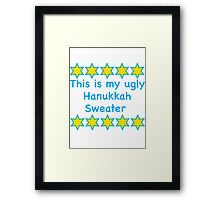 Ugly Hanukkah Sweater  Framed Print