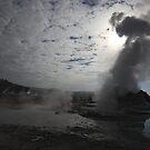 Castle Geyser Steam by Olga Zvereva