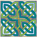 Celtic Knot, green by Marta Lett