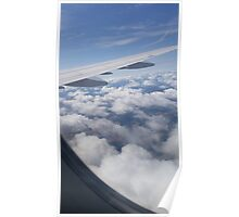 Clouds View From Airplane Poster