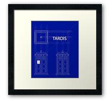 TARDIS Orthogonal Framed Print
