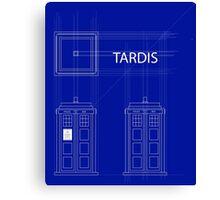 TARDIS Orthogonal Canvas Print