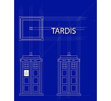 TARDIS Orthogonal Photographic Print