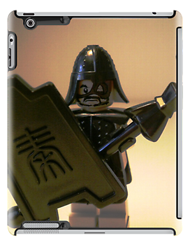 Ching Dynasty Chinese Warrior Custom LEGO® Minifigure with Black Armour, by 'Customize My Minifig' by Chillee
