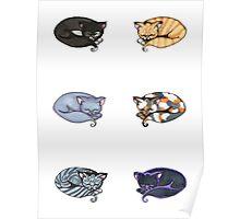 Watercolor Kitties Poster