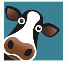 Moo Cow - T Shirt by BlueShift