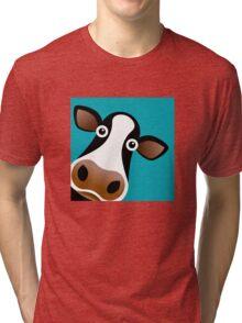 Moo Cow - T Shirt Tri-blend T-Shirt