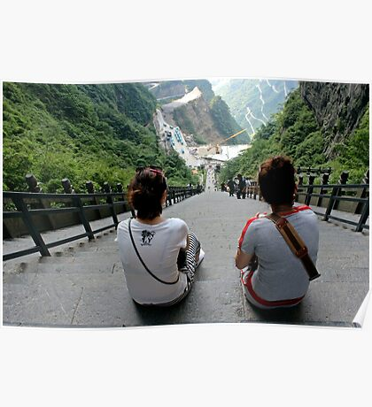 Steps, Tianmen Dong, Zhangjiajie, Hunan Poster