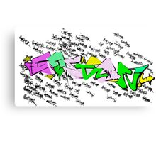 Graffiti Goster OOG Canvas Print