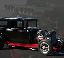 1931 Ford Model A Sedan Hot Rod by TeeMack