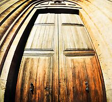 Old, Spanish Wooden Door by marina63