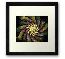 Flower Ripples Framed Print