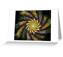 Flower Ripples Greeting Card