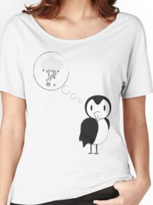 unknown penguin thoughts Women's Relaxed Fit T-Shirt