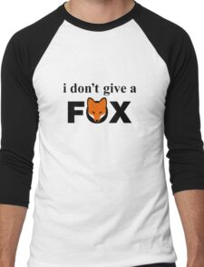 I Don't Give A Fox Men's Baseball ¾ T-Shirt