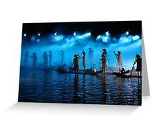 Light Show, Yangshuo, Guangxi Greeting Card