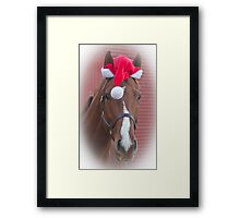 Holiday Horse Ken Framed Print