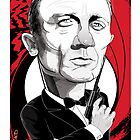Daniel Craig as James Bond by drawgood