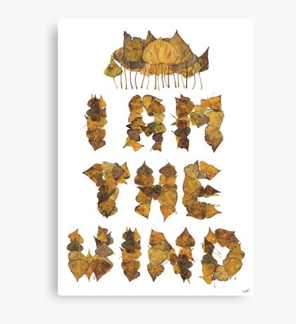 i am the wind Canvas Print
