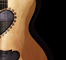Guitar Art - She Waits by Sharon Cummings