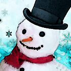 Snowman Art - Frosty by Sharon Cummings