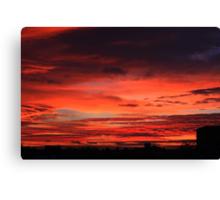 November Sunrise Over Darlington Canvas Print