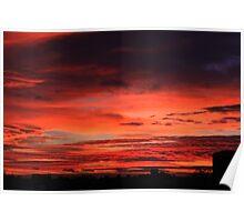 November Sunrise Over Darlington Poster