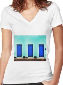 BLUE HOUSE Women's Fitted V-Neck T-Shirt
