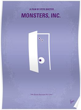 No161 My Monster Inc minimal movie poster by Chungkong