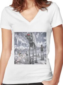 Sci-Fi Fantasy 2 Women's Fitted V-Neck T-Shirt