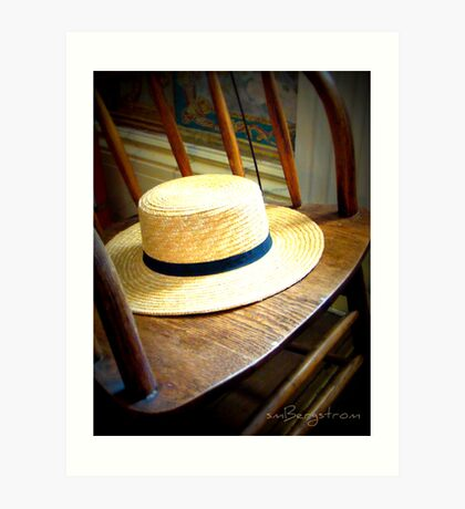 Don't Forget Your Hat Art Print