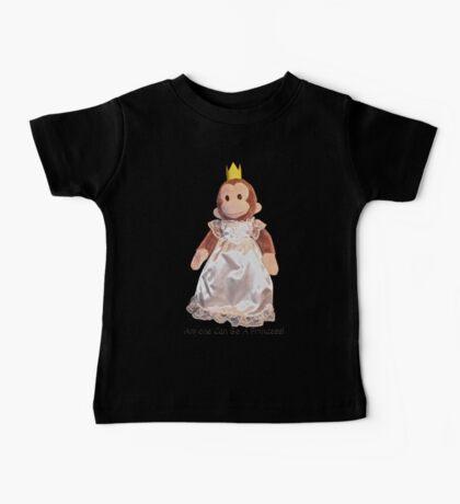 Anyone Can Be A Princess! - Black Text Baby Tee