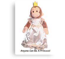 Anyone Can Be A Princess! - Black Text Metal Print