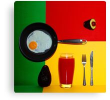 Psychedelic Breakfast Canvas Print