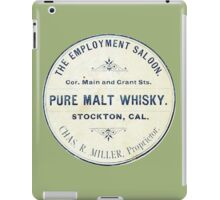 Vintage Whiskey from California iPad Case/Skin