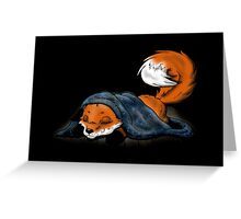 little cute sleeping fox Greeting Card