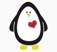 I Carry Your Heart With Me - Penguin Tshirt / Sticker by Louise Parton