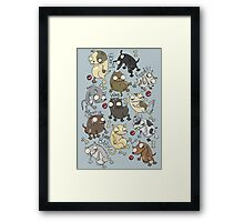 Dog Beans Framed Print