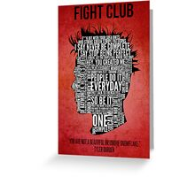 Typography Tyler Durden Greeting Card