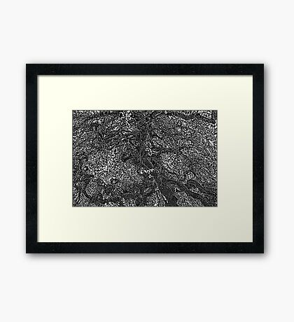 TEXTURED ART OF A TREE Framed Print