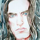 PETER STEELE watercolor portrait by lautir