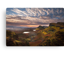 Quiraing at Sunrise. Trotternish. Isle of Skye. Scotland. Canvas Print