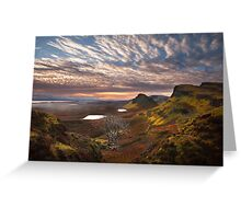 Quiraing at Sunrise. Trotternish. Isle of Skye. Scotland. Greeting Card