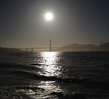 Sunset at Golden gate by NuclearJawa