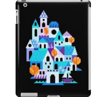 Blue houses - pixel art iPad Case/Skin